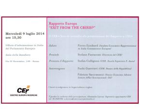 Programma CER 9 luglio